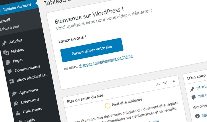 Personnaliser le back-office WordPress