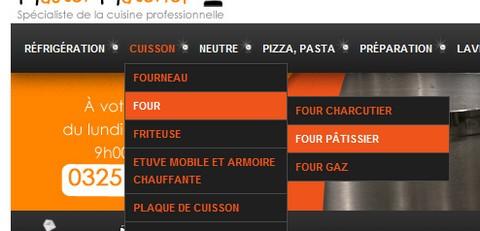 Le menu déroulant en action