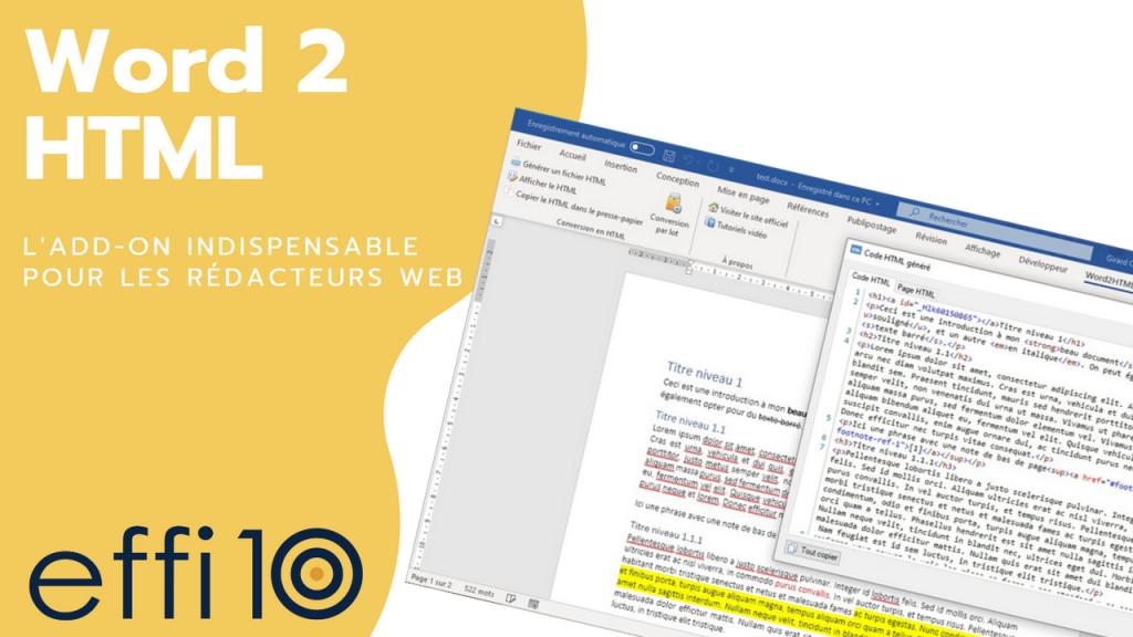 Word 2 HTML : l'add-on indispensable pour la rédaction web !