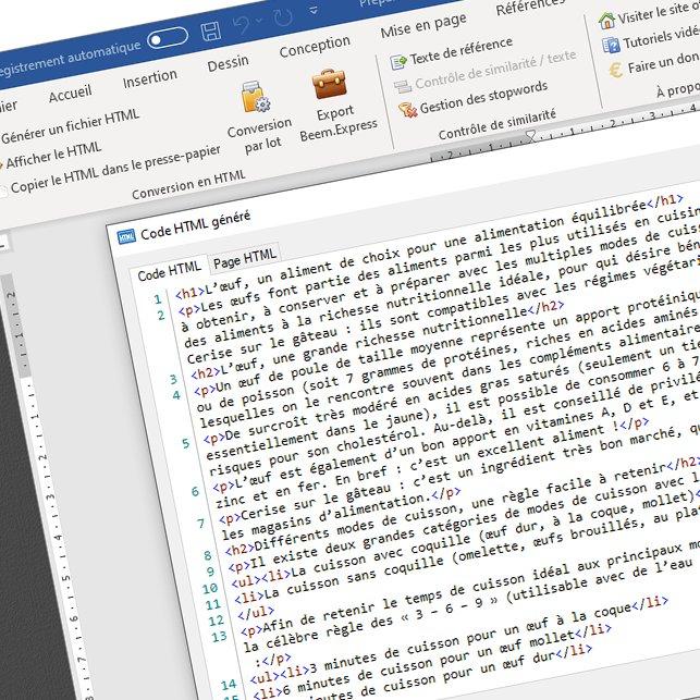 Word2HTML : un addon gratuit pour Word, pour convertir vos documents au format HTML !